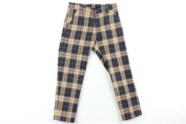 pantalone fantasia quadri MANUEL & FRANK   Pantaloni   MF1156BBEIGE