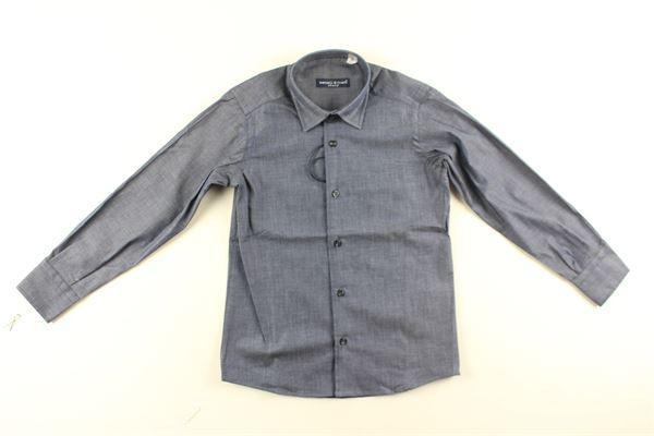 camicia tinta unita manica lunga MANUEL & FRANK   Camicie   MF3120BAZZURRO