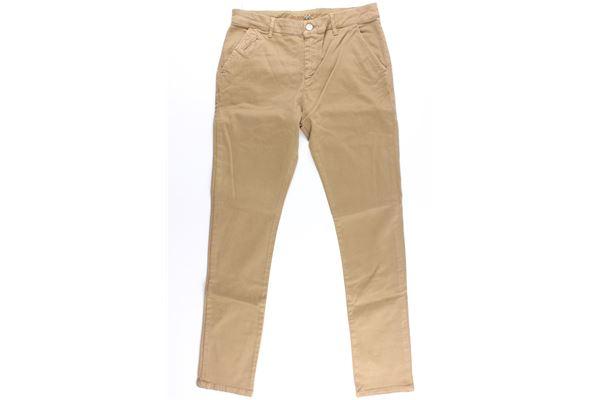 pantalone tinta unita tasche america MANUEL RITZ | Pantaloni | MR0833BEIGE