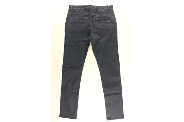 pantalone tinta unita tasche america MANUEL RITZ | Pantaloni | MR0833BLU