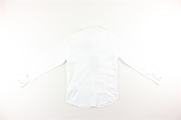 camicia tinta unita manica lunga MANUEL RITZ | Camicie | MR0836BIANCO