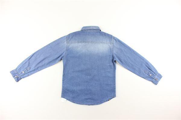 camicia di jeans tinta unita manica lunga MANUEL RITZ | Camicie | MR0900AZZURRO