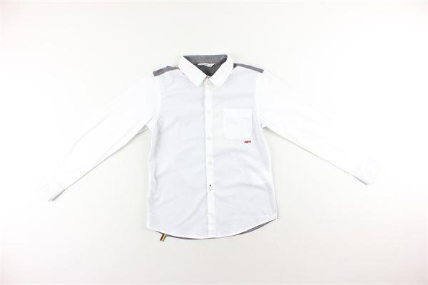 camicia bicolore manica lunga MANUEL RITZ | Camicie | MR0915BIANCO