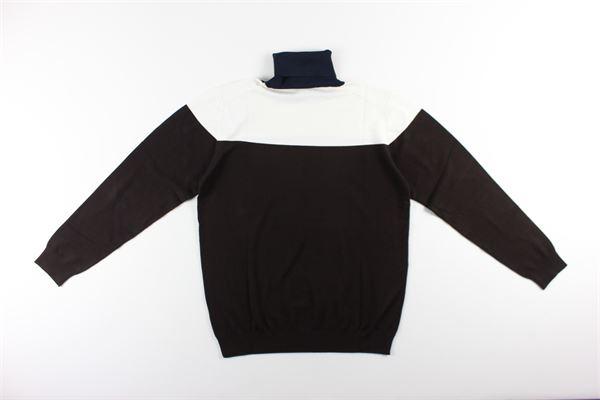maglia collo alto tricolore MARK UP   Maglie   00450MARRONE