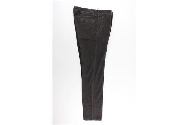 pantalone tinta unita tasche america MARTIN ZELO   Pantaloni   PULAPMARRONE