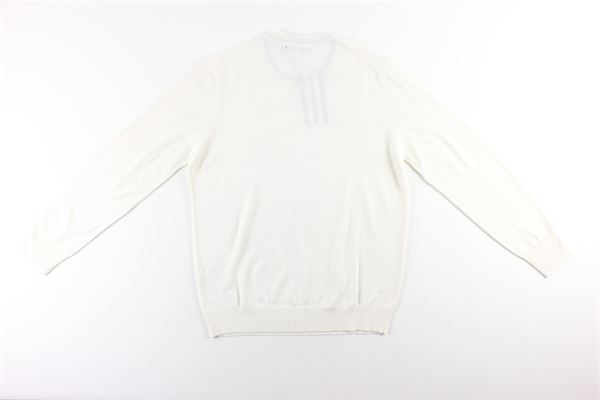 maglia girocollo tinta unita MESSAGERIE | Maglie | 221T09401BIANCO