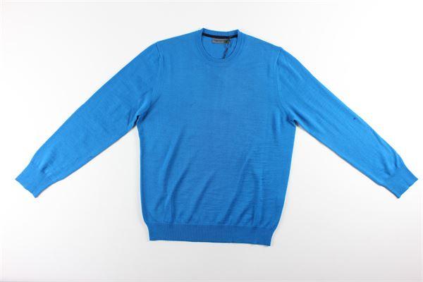 maglia girocollo tinta unita MESSAGERIE | Maglie | 221T09401CELESTE