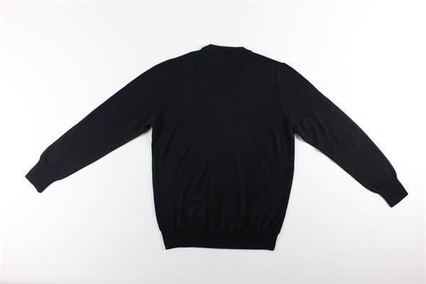 maglia girocollo tinta unita MESSAGERIE | Maglie | 221T09401NERO