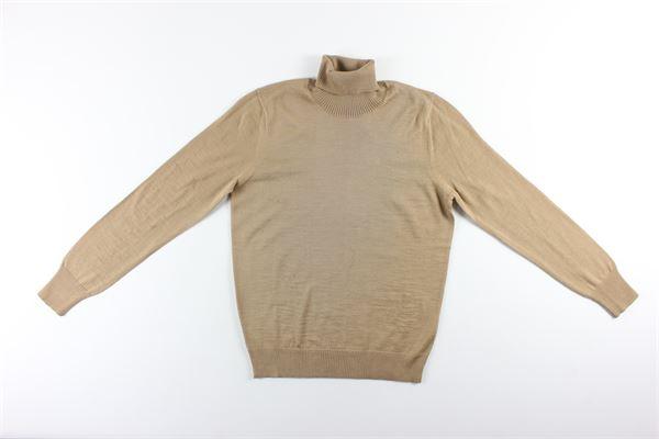 maglia collo alto tinta unita MESSAGERIE | Maglie | G41223T09401BEIGE