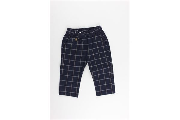 pantalone fantasia quadri elastico in vita MINI BANDA | Pantaloni | 31648BLU