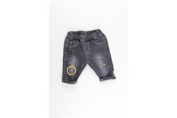 pantalone elastico con stampe MINI BANDA | Pantaloni | 31651GRIGIO