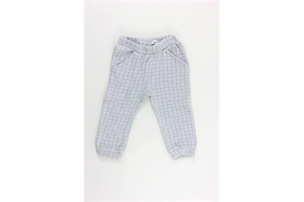 pantalone fantasia quadri elastico in vita MINI BANDA | Pantaloni | 31656GRIGIO