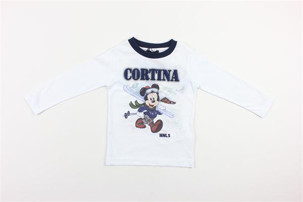 shirt tinta unita con stampa MONNALISA | Shirts | 256616BIANCO