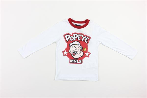 shirt tinta unita con stampa MONNALISA | Shirts | 256625BIANCO