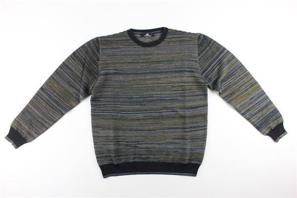 maglia girocollo stampa fantasia MONTECHIARO | Maglie | 18126410MNERO