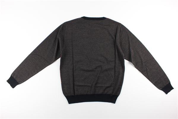 maglia girocollo stampa fantasia MONTECHIARO | Maglie | 18129910MMARRONE