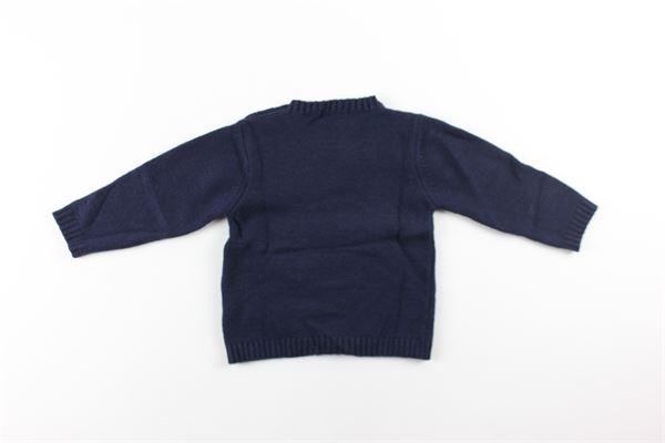 maglia girocollo tinta unita con ricami NANAN | Maglie | 1226012BLBLU