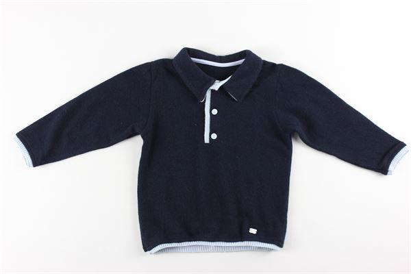 polo in maglia tinta unita con profili in contrasto NANAN | Polo | I1213818BLU