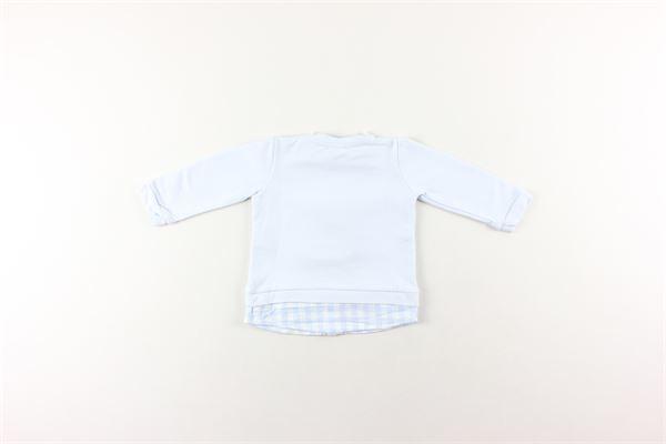 shirt tinta unita con finta camicia NANAN | Felpe | I19051AZZURRO