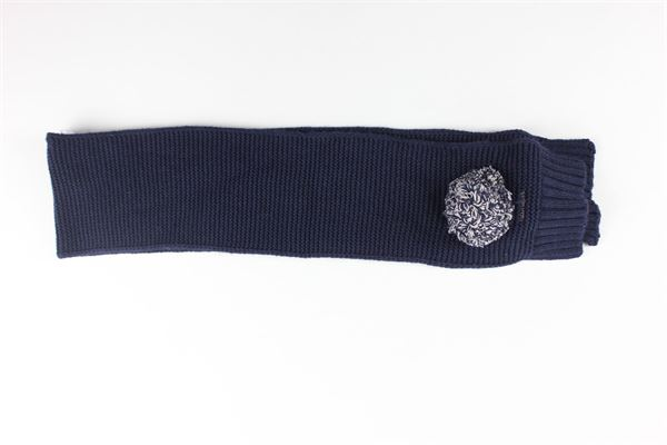 sciarpa tinta unita con applicazioni NANAN | Sciarpe | I20053BLBLU