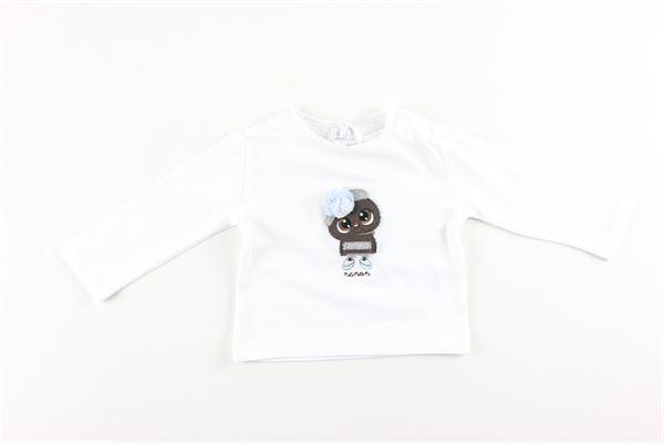 shirt basic tinta unita con stampa NANAN | Shirts | I2009703BBIANCO