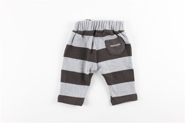 pantalone elastico in vita fantasia a righe NANAN | Pantaloni | I2009824GRGRIGIO