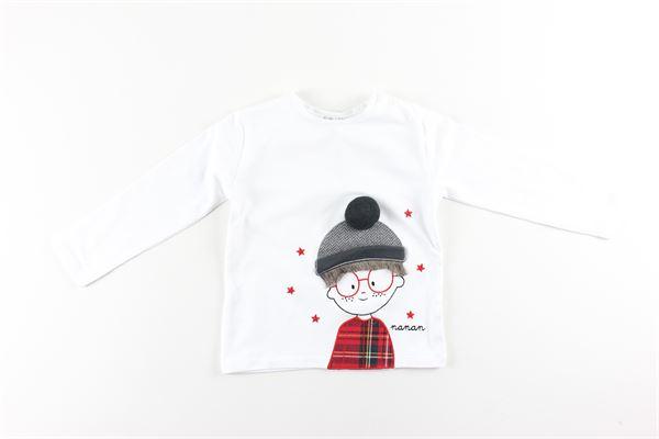 shirt tinta unita con stampa NANAN | Shirts | I2010372BIANCO