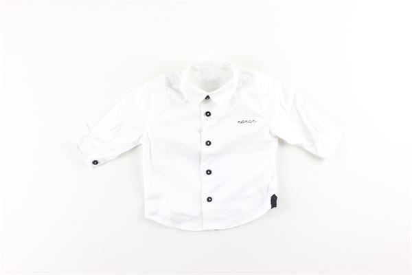 camicia tinta unita con stampa logo NANAN | Camicie | I2016403BBIANCO