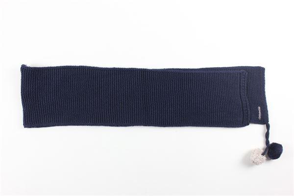 sciarpa tinta unita con applicazione NANAN | Sciarpe | I20411BLBLU