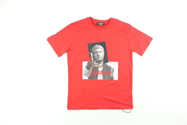 t-shirt tinta unita con stampa NEIL BARRETT | T-shirts | 020590ROSSO