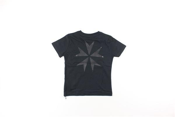 t-shirt tinta unita con stampa NEIL BARRETT | T-shirts | 020599NERO