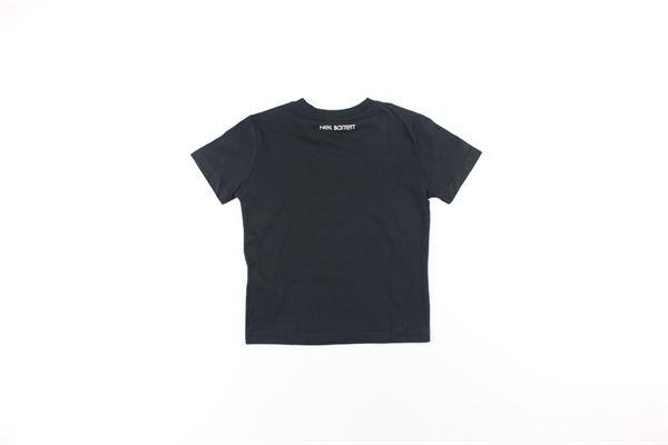 t-shirt tinta unita con stampa NEIL BARRETT | T-shirts | 020617110NERO