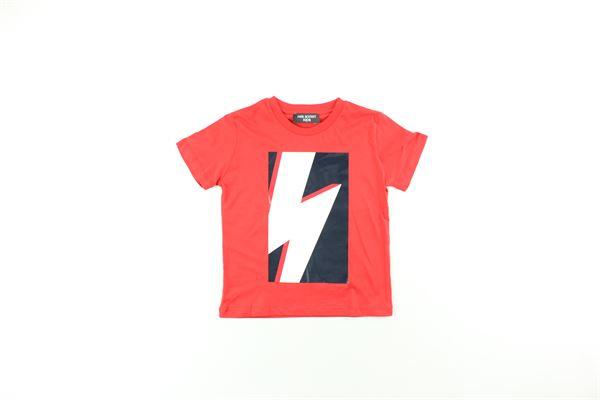 t-shirt tinta unita con stampa NEIL BARRETT | T-shirts | 020617ROSSO