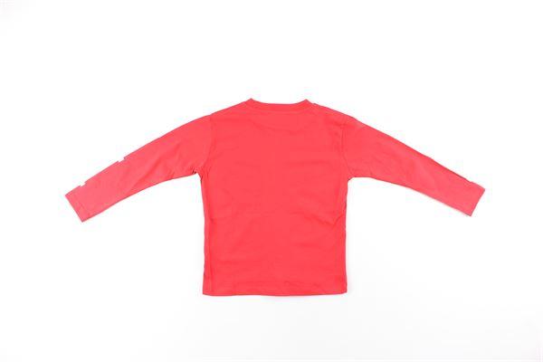 shirt tinta unita con stampa NEIL BARRETT | Shirts | 020626001ROSSO