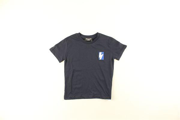 t-shirt tinta unita con stampa NEIL BARRETT | T-shirts | 020633101BLU