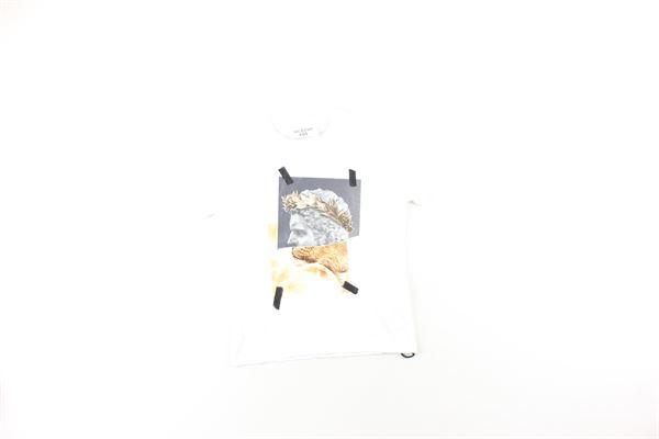 t-shirt tinta unita con stampe NEIL BARRETT | T-shirts | 020633BIANCO