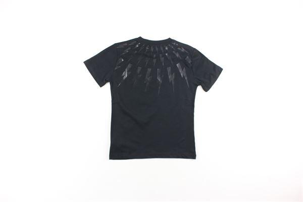 t-shirt tinta unita con stampe NEIL BARRETT | T-shirts | 020633NERO