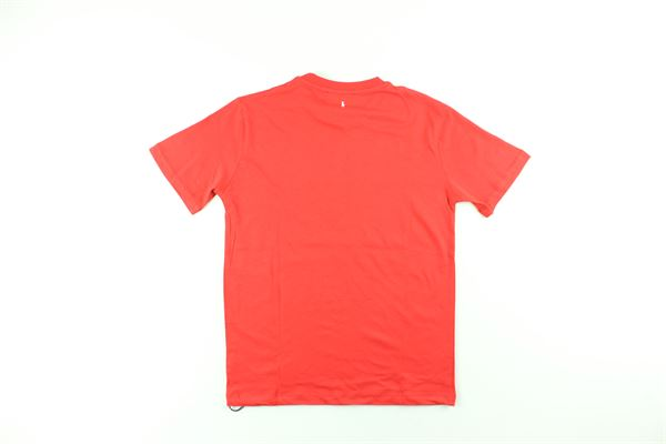t-shirt tinta unita con stampe NEIL BARRETT | T-shirts | 020636ROSSO