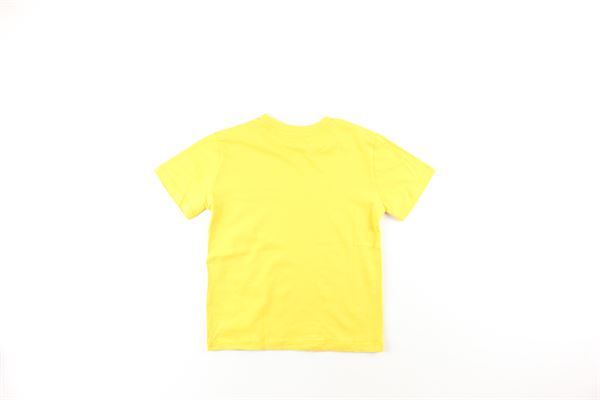t-shirt tinta unita con stampa NEIL BARRETT | T-shirts | 020638040GIALLO