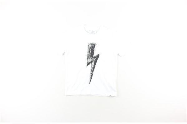 t-shirt tinta unita con stampa NEIL BARRETT | T-shirts | 021449130BIANCO