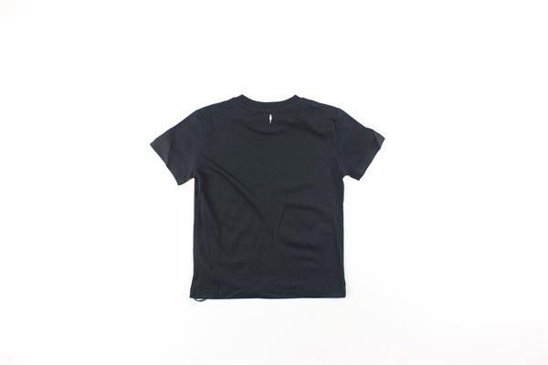 t-shirt tinta unita con stampa NEIL BARRETT | T-shirts | 021449130NERO