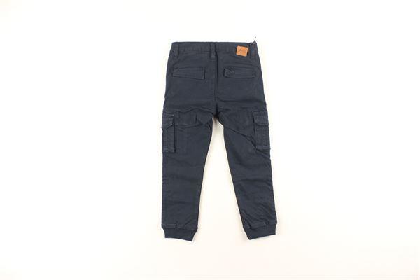 pantalone tinta unita con tasconi laterali DANIELE ALESSANDRINI | Pantaloni | 1291P0159BLU