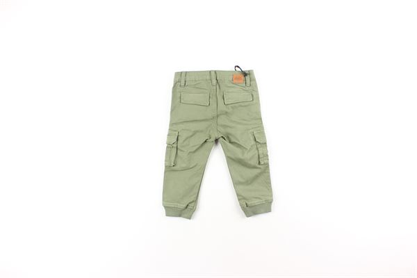 pantalone tinta unita con tasconi laterali DANIELE ALESSANDRINI | Pantaloni | 1291P0159VERDE
