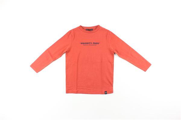 shirt tinta unita con stampa DANIELE ALESSANDRINI | Shirts | 743T50125TROSSO