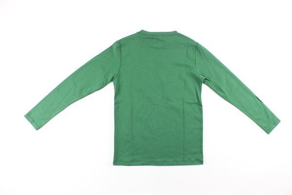 shirt tinta unita con stampa DANIELE ALESSANDRINI | Shirts | 743T50125TVERDE