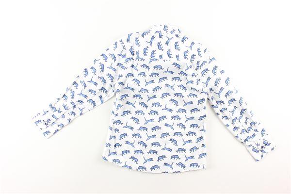 camicia manica lunga stampa fantasia con papillons NEILL KATTER | Camicie | 51813BIANCO