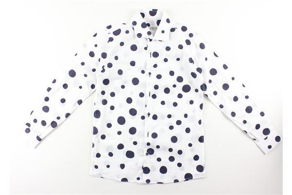 camicia manica lunga tinta unita fantasia pois NEILL KATTER | Camicie | 51848BIANCO