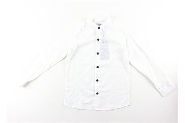 camicia manica lunga microfantasia NEILL KATTER | Camicie | 51852BIANCO