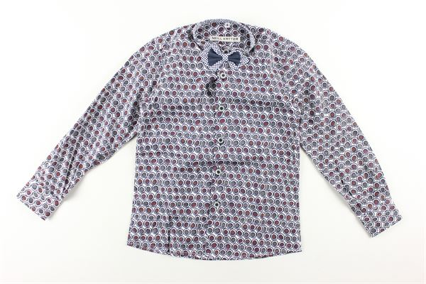 camicia manica lunga stampa fantasia con papillons NEILL KATTER | Camicie | 52043MULTICOLOR