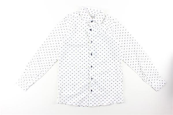 camicia tinta unita fantasia  manica lunga NEILL KATTER | Camicie | 52186BIANCO